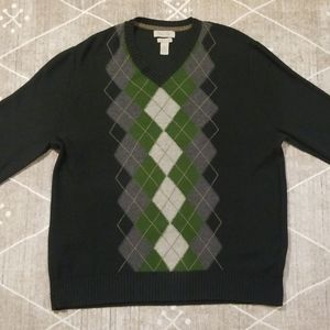 Banana Republic Luxury Blend Argyle Sweater